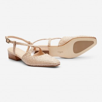LOW HEEL SLINGBACK PUMP